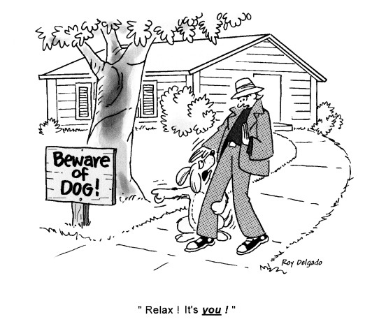 beware of dog cartoon