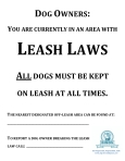 leash law sign